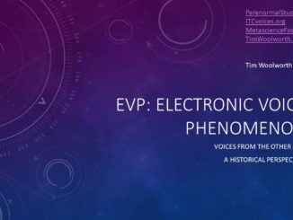 EVP: Electronic Voice Phenomenon