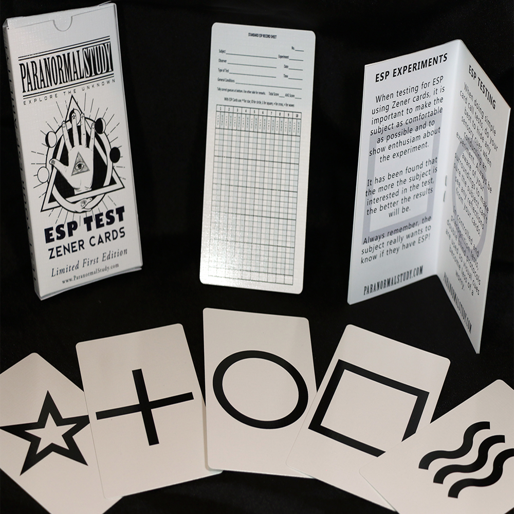 Zener 5 suits, Booklet and Box