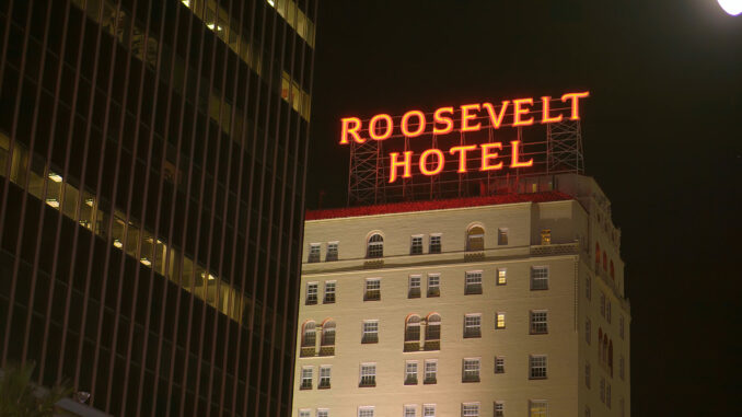 Famous Roosevelt Hotel on Hollywood Boulevard in Los Angeles - LOS ANGELES, USA