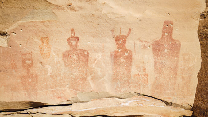 Hopi Pictograph of Ant People in Sego Canyon