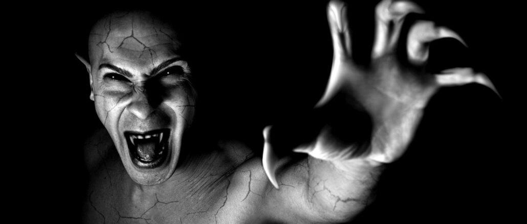 devil vampire portrait